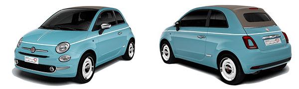 Modelo Fiat 500C Cabrio Spiaggina´58