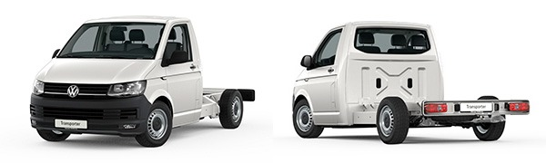 Modelo Volkswagen Comerciales Transporter Chasis Cabina Simple Batalla Corta