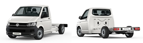 Modelo Volkswagen Comerciales Transporter Chasis Cabina Simple Batalla Larga