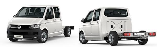 Modelo Volkswagen Comerciales Transporter Chasis Cabina Doble Batalla Larga