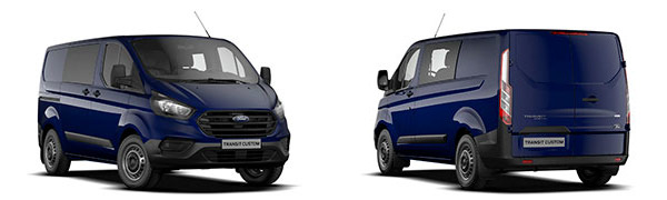 Modelo Ford Custom Van Doble Cabina Ambiente