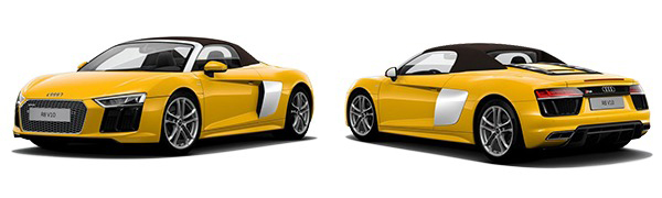 Modelo Audi R8 Spyder -