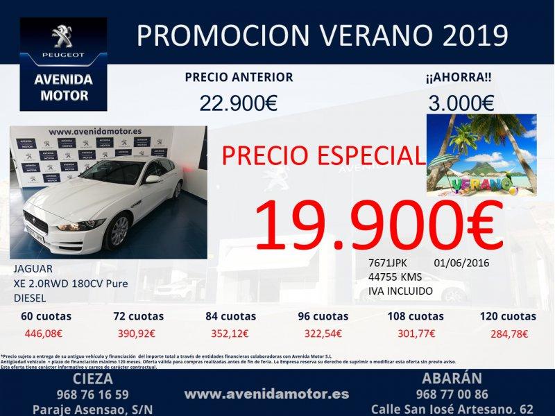 Jaguar XE 2.0 AJ200D Diesel RWD 180cv XE-Pure Pure