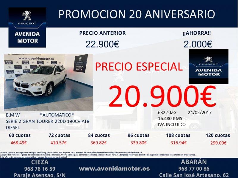 BMW Serie 2 Gran Tourer 220dA -