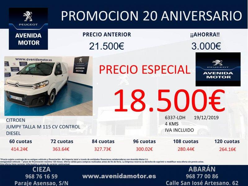 Citroen Jumpy Talla M BlueHDi 85kW (115CV) S&S Control