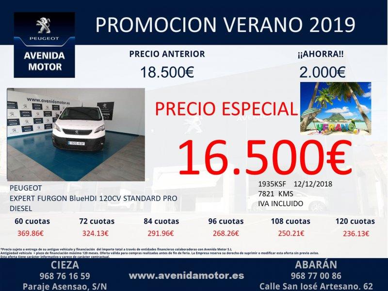 Peugeot Expert Furgón BlueHDi 90KW (120) Standard Pro