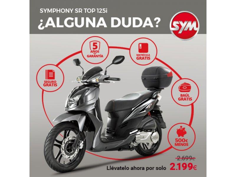 Sym Symphony 125 SR 125I Symphony SR TOP + BAUL DE REGALO