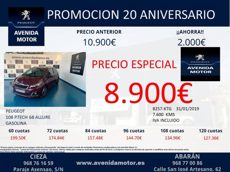 Peugeot 108 VTI 72 5V Allure