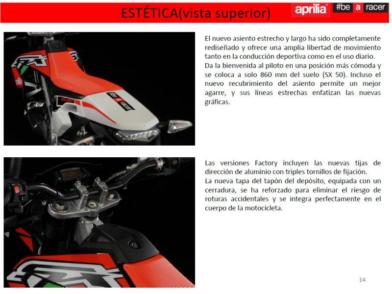 Aprilia SX 50  Monocilíndro 2T 4V EURO 4 SUPERMOTARD